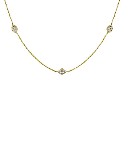 14K 0.33 ct. tw. Diamond Station 32in Necklace