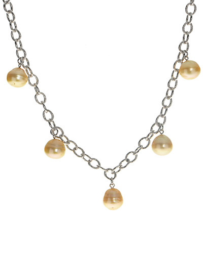 Silver 11-12mm South Sea Pearl Necklace