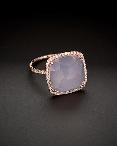 Meira T 14K Rose Gold 9.04 ct. tw. Diamond & Quartz Ring