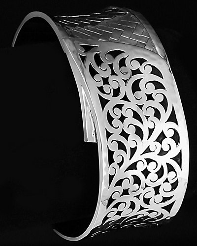 Lois Hill Classic Silver Woven Cuff