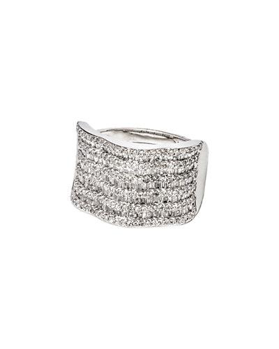 Jewels by Lori Kassin 14K 1.26 ct. tw. Diamond Wavy Multi-Row Ring