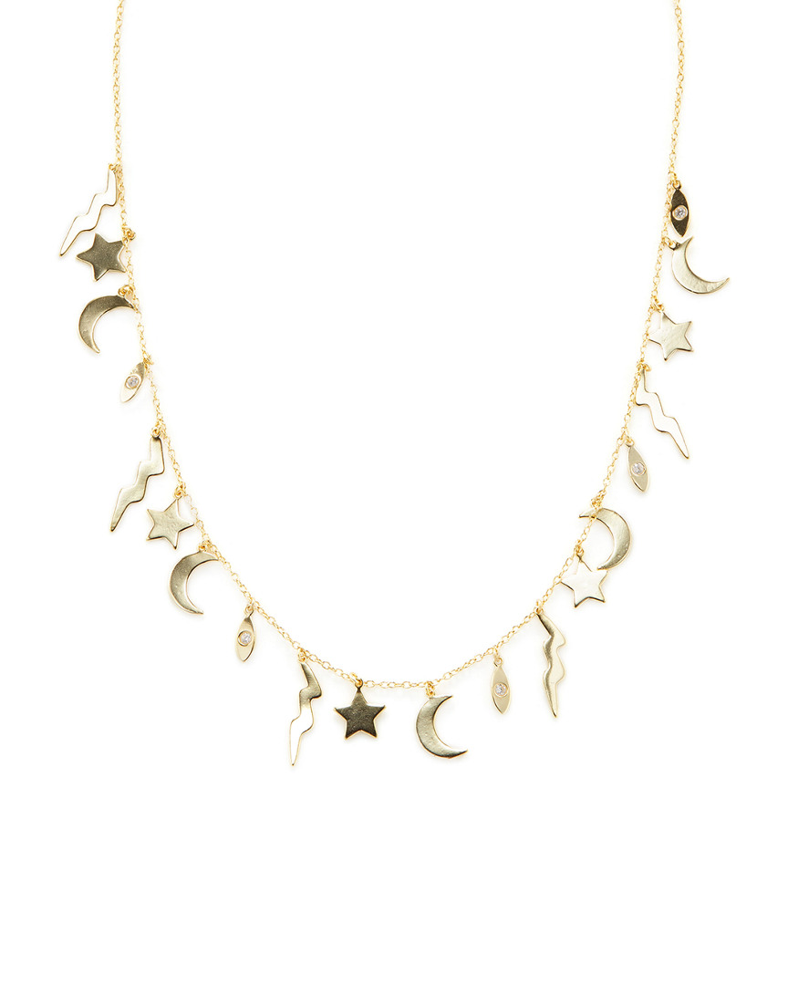 Shashi LIGHTNING CHARM STATION NECKLACE