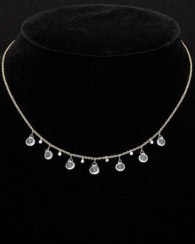 Meira T 14K Two-Tone 3.55 ct. tw. Diamond & Aquamarine Necklace