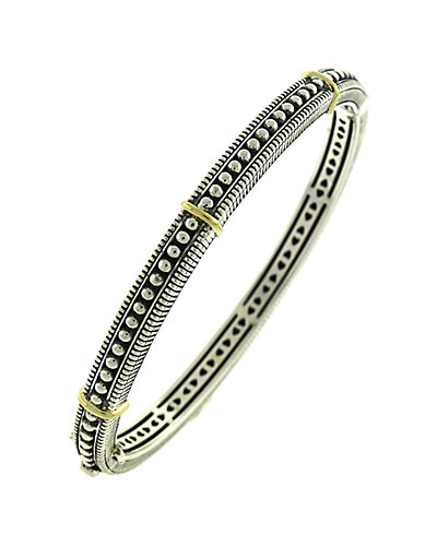 Judith Ripka Madison Silver Hinged Bangle