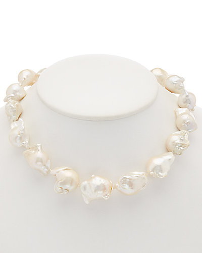 HONORA Silver 16mm Pearl Necklace
