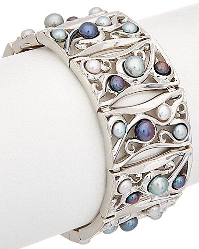 HONORA Silver 4-6mm Pearl Bracelet
