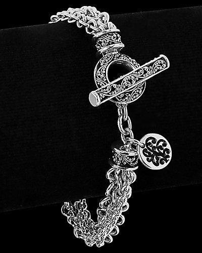 Lois Hill Silver Toggle Bracelet