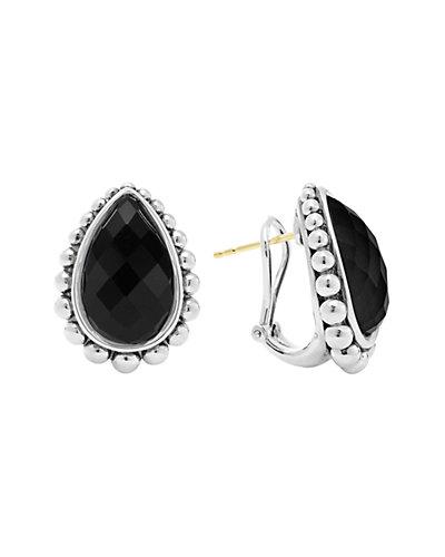 LAGOS Maya Silver Onyx Doublet Earrings