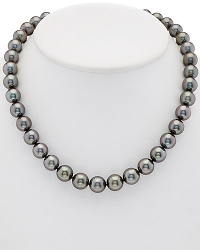 TARA Pearls 18K 0.11 ct. tw. Diamond & 10-11.9mm Tahitian Cultured Pearl Necklace