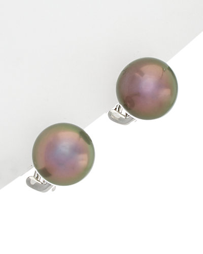 TARA Pearls 18K 11-12mm Tahitian Cultured Pearl Earrings