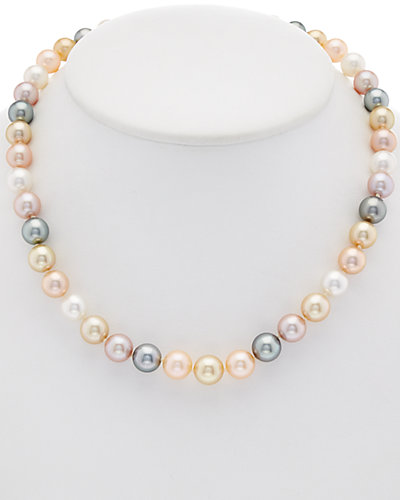 TARA Pearls 18K Diamond & 9-10mm South Sea, Tahitian & Freshwater Pearl Necklace
