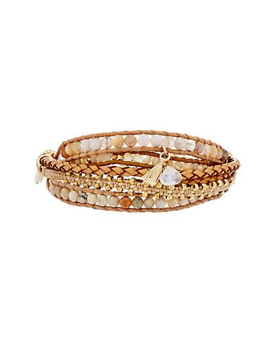 Chan Luu 18K over Silver Gemstone Bracelet