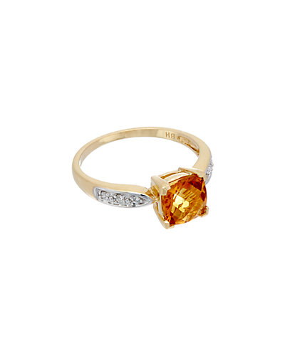 Effy Fine Jewelry 14K 2.15 ct. tw. Diamond & Citrine Ring