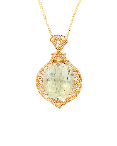 Effy Fine Jewelry 14K 4.47 ct. tw. Diamond & Green Amethyst Necklace