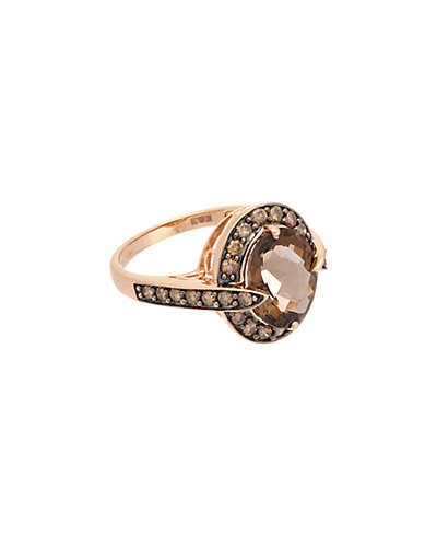 Effy Fine Jewelry 14K Rose Gold 4.06 ct. tw. Brown Diamond & Smokey Quartz Ring