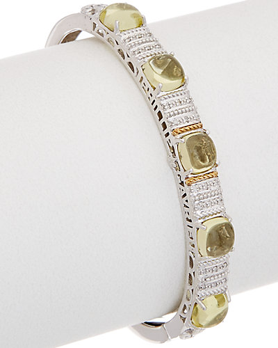 Phillip Gavriel 18K Gold & Silver 0.12 ct. tw. Diamond & Quartz Cuff