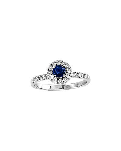 Suzy Levian 14K 0.60 ct. tw. Diamond & Sapphire Ring
