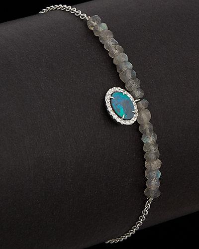 Meira T 14K 0.77 ct. tw. Diamond, Opal & Labradorite Bracelet