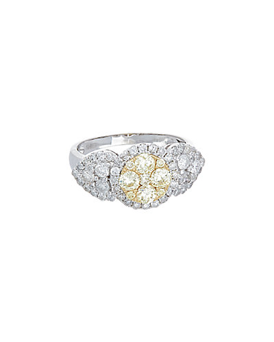 Effy Fine Jewelry 14K Two-Tone 1.55 ct. tw. Yellow & White Diamond Ring