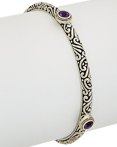 Phillip Gavriel 18K & Silver Amethyst Bangle