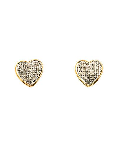 Jewels by Lori Kassin 10K 0.15 ct. tw. Diamond Heart Studs