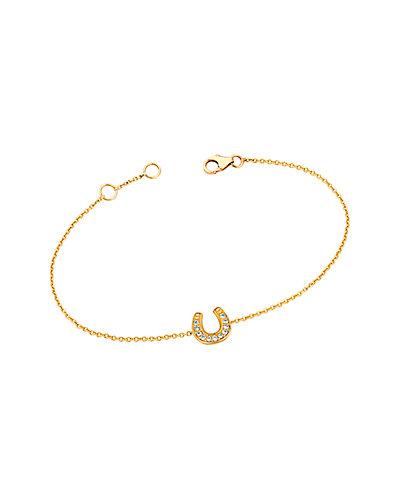 Ariana Rabbani 14K Diamond Horseshoe Bracelet