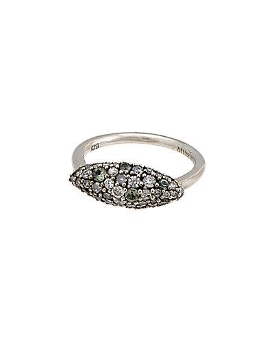 Alexis Bittar Marquis Silver Green Sapphire & Diamond Ring