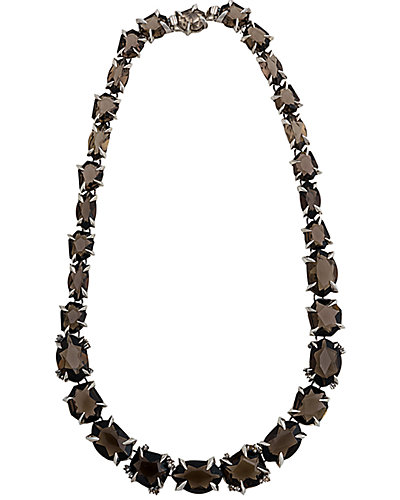 Alexis Bittar Silver Smoky Quartz Necklace