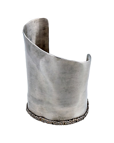 Alexis Bittar Marquis Silver Citrine & Diamond Cuff