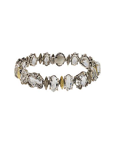 Alexis Bittar Marquis Silver Quartz, Sapphire & Diamond Bracelet