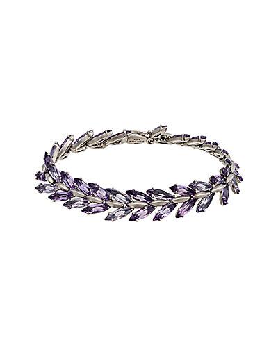 Alexis Bittar Marquis Silver Amethyst Tennis Bracelet