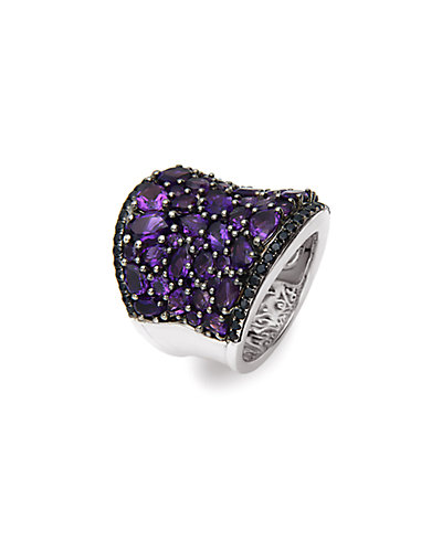 Charles Krypell Roxy Collection Silver Gemstone Ring