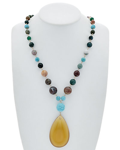 Devon Leigh 14K Filled Gemstone 30in Necklace