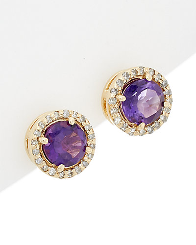 Effy Fine Jewelry 14K 1.53 ct. tw. Diamond & Amethyst Earrings