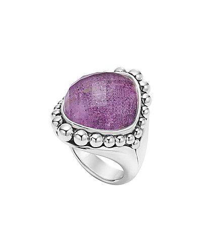 LAGOS Maya Silver Charoite Doublet Ring