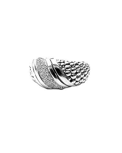 LAGOS Diamonds & Caviar Silver 0.13 ct. tw. Diamond Wave Ring
