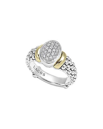 LAGOS Diamonds & Caviar 18K & Silver 0.26 ct. tw. Diamond Ring