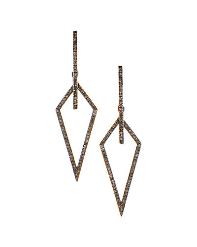Rivka Friedman Signature 14K & Silver 1.05 ct. tw. Champagne Diamond Earrings