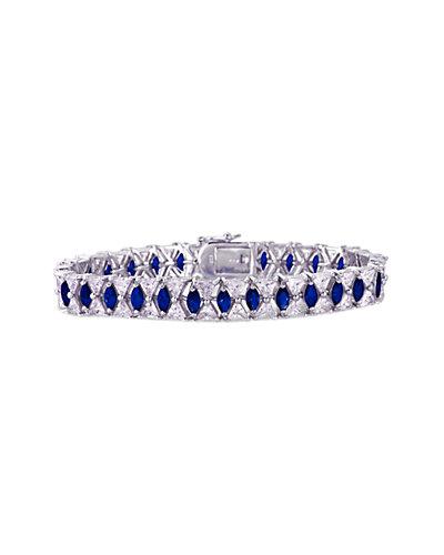 Genevive Silver CZ Bracelet