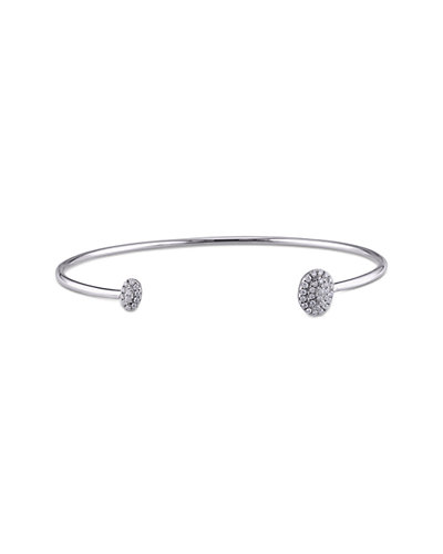 14K 0.18 ct. tw. Diamond Cuff