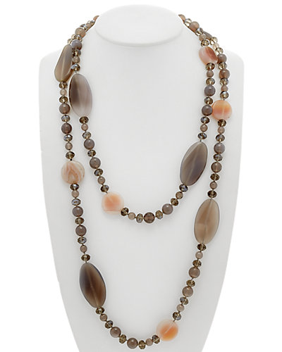 Devon Leigh 14K Fill Gemstone Dual-Strand Necklace