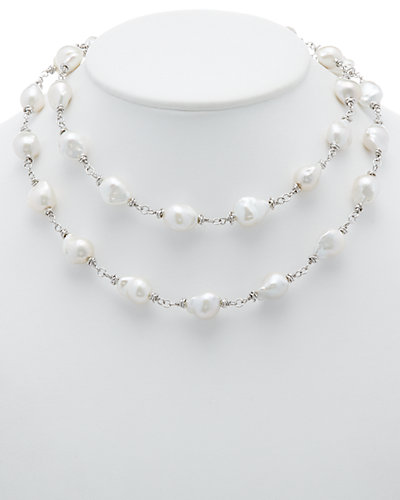 HONORA Silver 11-12mm Pearl 36in Necklace