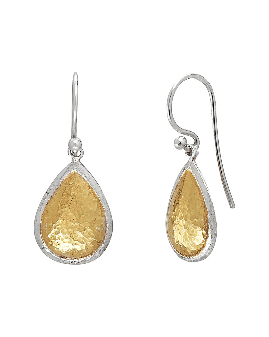 Gurhan AMULET 24K YELLOW GOLD OVER SILVER DROP EARRINGS