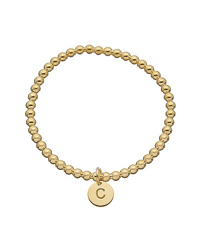 18K Italian Gold Over Silver Initial Charm Bracelet (A-Z) as seen on All Access Access Hollywood deals