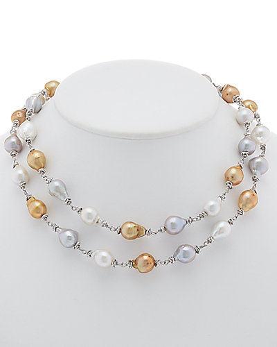 HONORA Silver 11-12mm Pearl 36in Endless Necklace