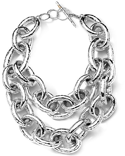 IPPOLITA Glamazon Athena Silver Two-Strand Toggle Necklace