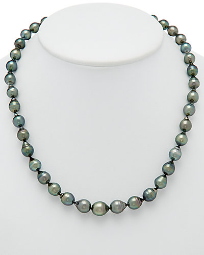 HONORA Silver 8-11mm Tahitian Pearl Necklace