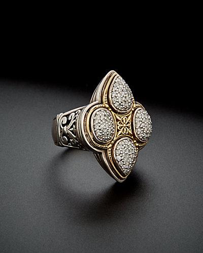 Konstantino Diamond Classics 18K & Silver 1.02 ct. tw. Diamond Clover Ring
