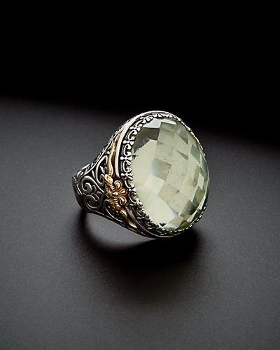 Konstantino Astritis 18K & Silver 15.00 ct. Amethyst Ring
