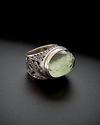 Konstantino Astritis Silver 12.00 ct. Amethyst Serpent Ring